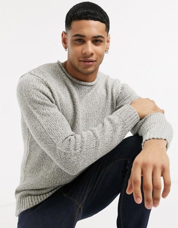 エスプリ メンズ ニット・セーター アウター Esprit melange roll neck sweater in beige Beige