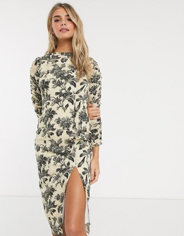 ホープ&アイビー レディース ワンピース トップス Hope & Ivy pencil dress in wallpaper floral Multi