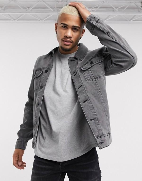エイソス メンズ ジャケット・ブルゾン アウター ASOS DESIGN regular denim jacket in gray Gray