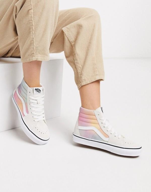 バンズ レディース スニーカー シューズ VansSK8-HI Tie Dye sneaker in white Aura shift multi/tru