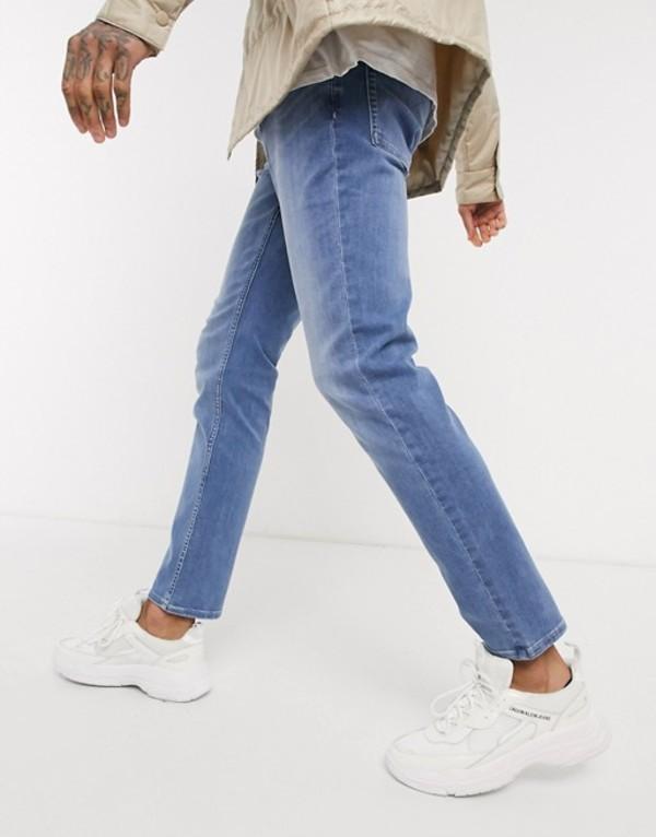カルバンクライン メンズ デニムパンツ ボトムス Calvin Klein Jeans slim stretch jeans in astor place Blue