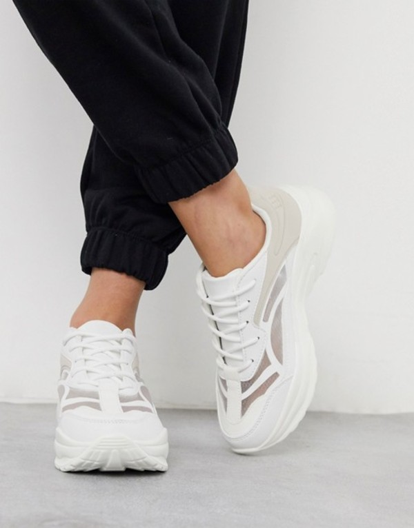 エイソス レディース スニーカー シューズ ASOS DESIGN Daily chunky sneakers in white White/off white