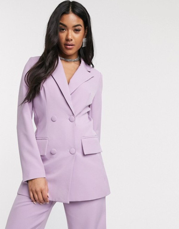フォース&レックレス レディース ジャケット・ブルゾン アウター 4th + Reckless double breasted suit blazer in lilac Lilac