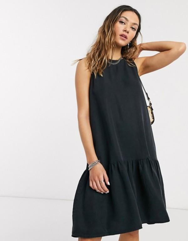 ノイジーメイ レディース ワンピース トップス Noisy May sleeveless grunge mini dress in black Black