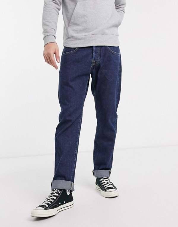 エドウィン メンズ デニムパンツ ボトムス Edwin ED55 regular tapered fit jeans in rinsed denim Akira wash