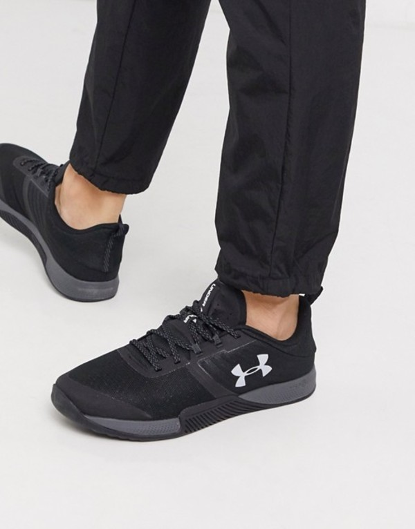 アンダーアーマー メンズ スニーカー シューズ Under Armour Training TriBase Thrive sneakers in black Black
