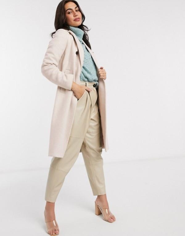 ストラディバリウス レディース コート アウター Stradivarius tailored longline coat in beige Gray