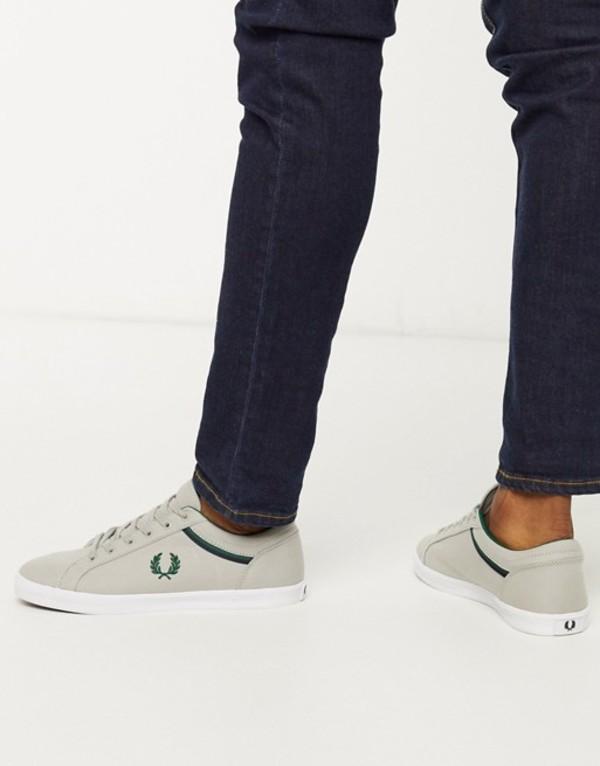 フレッドペリー メンズ スニーカー シューズ Fred Perry Baseline canvas sneakers in gray Light gray