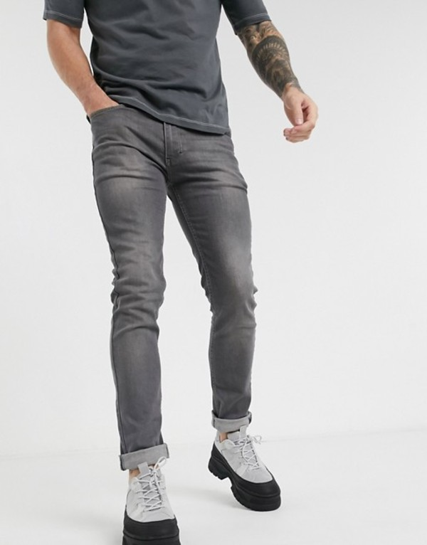 レリジョン メンズ デニムパンツ ボトムス Religion Noize skinny fit jeans in washed gray Washed gray
