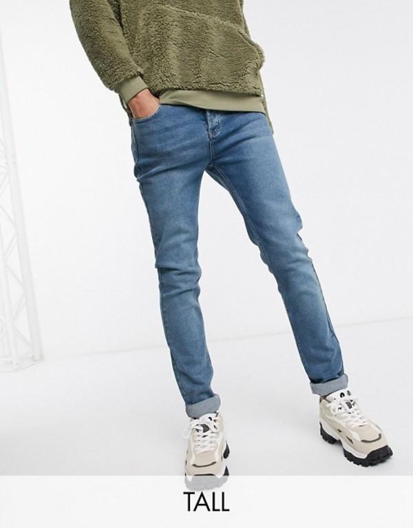 ボロンガロトレバー メンズ デニムパンツ ボトムス Bolongaro Trevor Tall skinny jeans in blue Blue