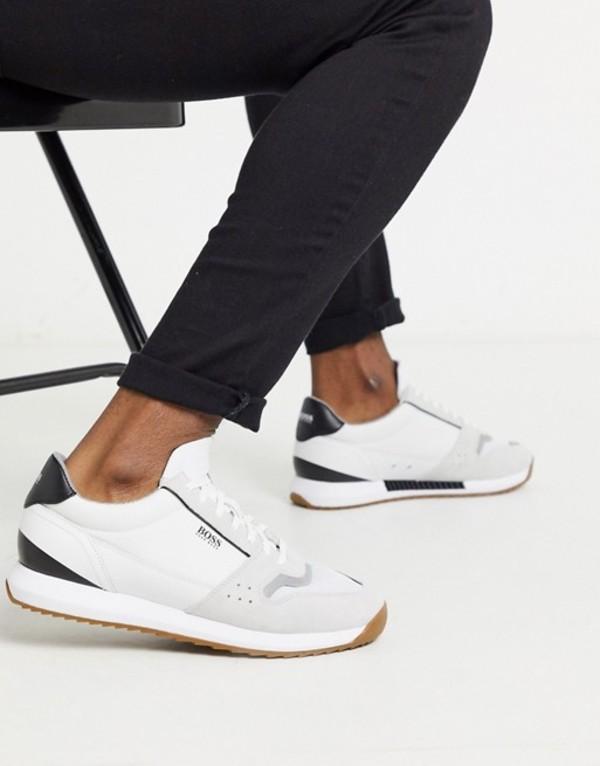 ボス メンズ スニーカー シューズ BOSS Sonic sneakers in white White