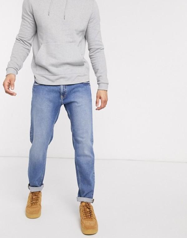 エスプリ メンズ デニムパンツ ボトムス Esprit slim fit jean in light blue Blue