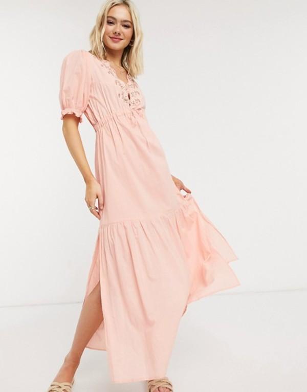 クレオベラ レディース ワンピース トップス Cleobella hannah midi dress with embroidered in peony Peony