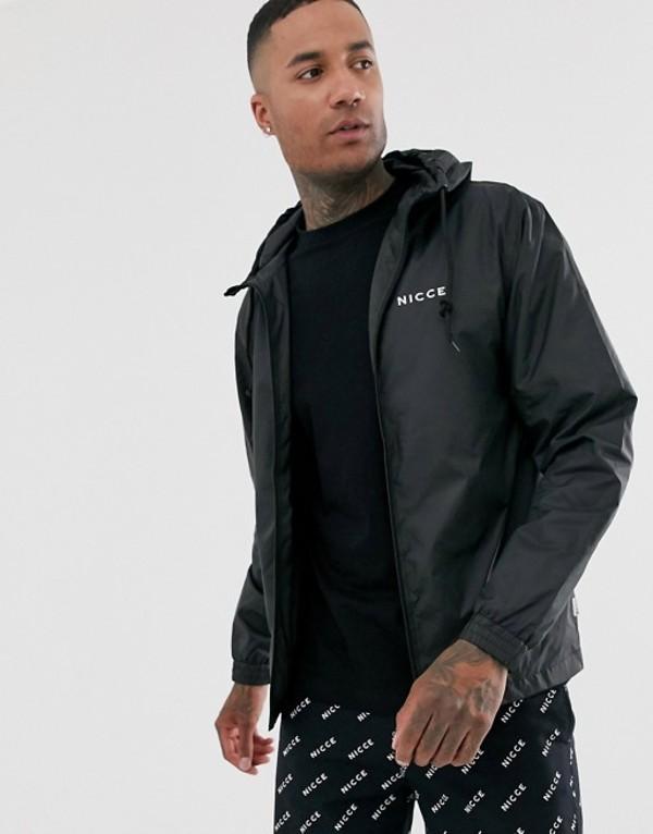 ニッチェ ロンドン メンズ ジャケット・ブルゾン アウター Nicce windbreaker jacket in black Black