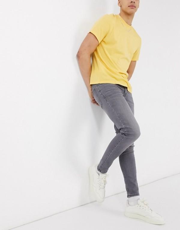 ニュールック メンズ デニムパンツ ボトムス New Look skinny jeans in gray wash Light gray