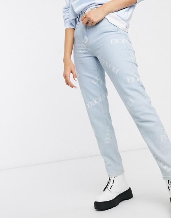 フィオルッチ レディース デニムパンツ ボトムス Fiorucci scattered logo high rise Tara jeans Light vintage