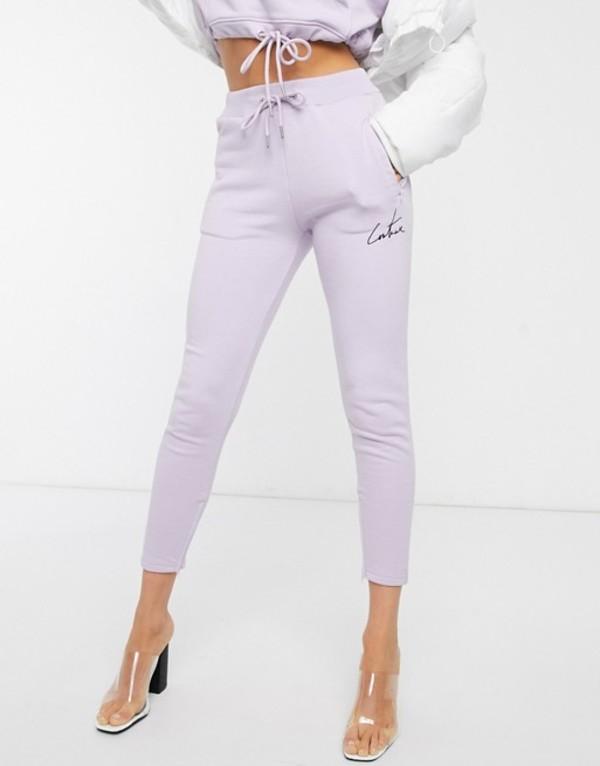 ザ クチュール クラブ レディース カジュアルパンツ ボトムス The Couture Club tapered motif jogger in lilac Lilac