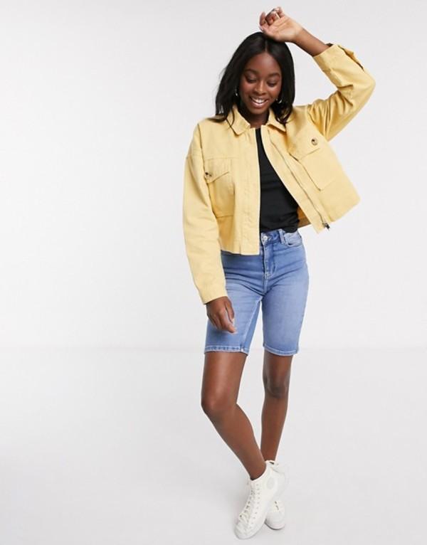 プルアンドベアー レディース ジャケット・ブルゾン アウター Pull&Bear lightweight jacket in yellow Yellow