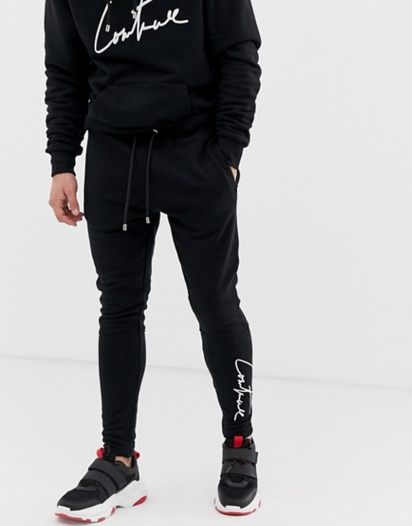 ザ クチュール クラブ メンズ カジュアルパンツ ボトムス The Couture Club essential sweatpants in black Black