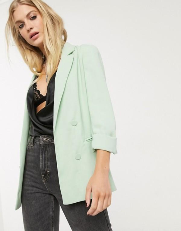 ベルシュカ レディース ジャケット・ブルゾン アウター Bershka oversized blazer in mint Green