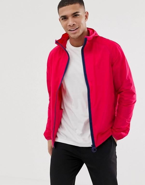 バーブァー メンズ ジャケット・ブルゾン アウター Barbour Beacon hooded lightweight jacket in pink Pink