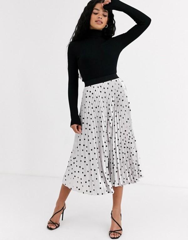 アウトレイジャスフォーチュン レディース スカート ボトムス Outrageous Fortune pleated midi skirt in metallic polka print Multi