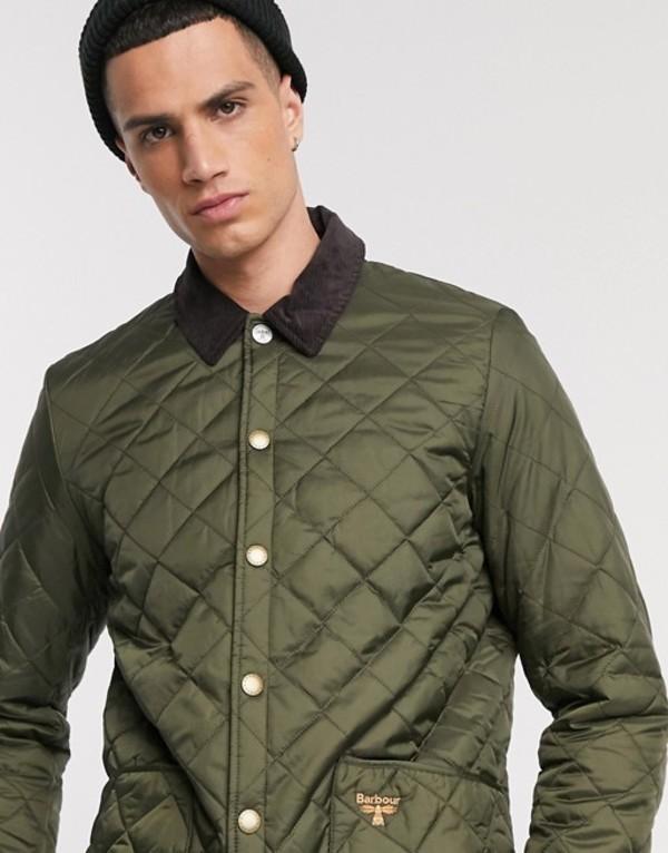 バーブァー メンズ ジャケット・ブルゾン アウター Barbour Beacon Starling quilted jacket in olive Green