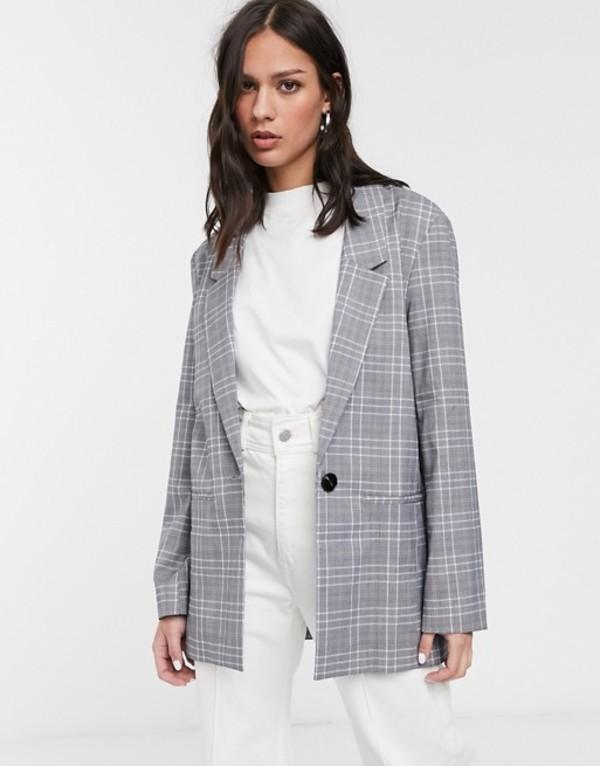 エイソス レディース ジャケット・ブルゾン アウター ASOS DESIGN all rounder blazer in gray check Gray check