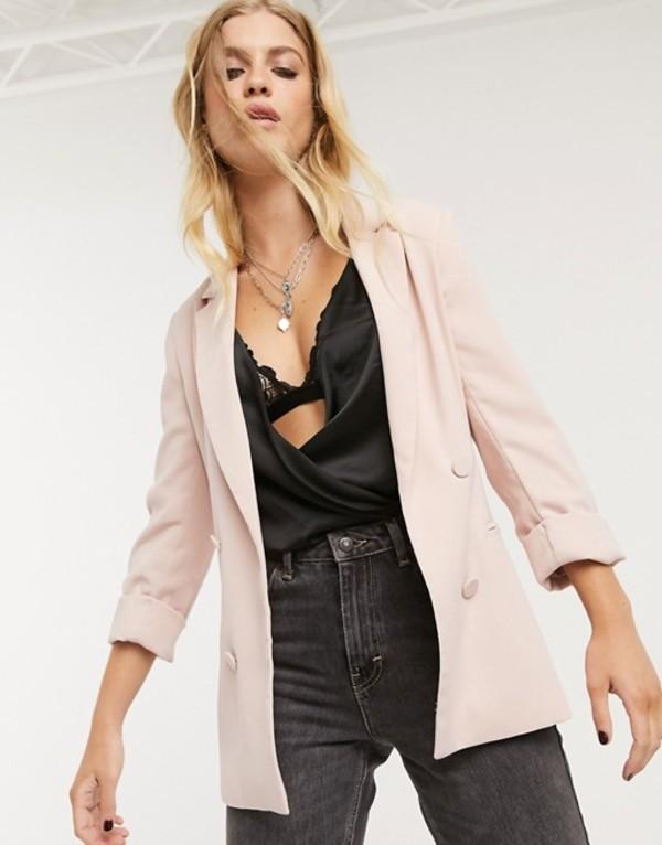 ベルシュカ レディース ジャケット・ブルゾン アウター Bershka oversized blazer in light pink Pink