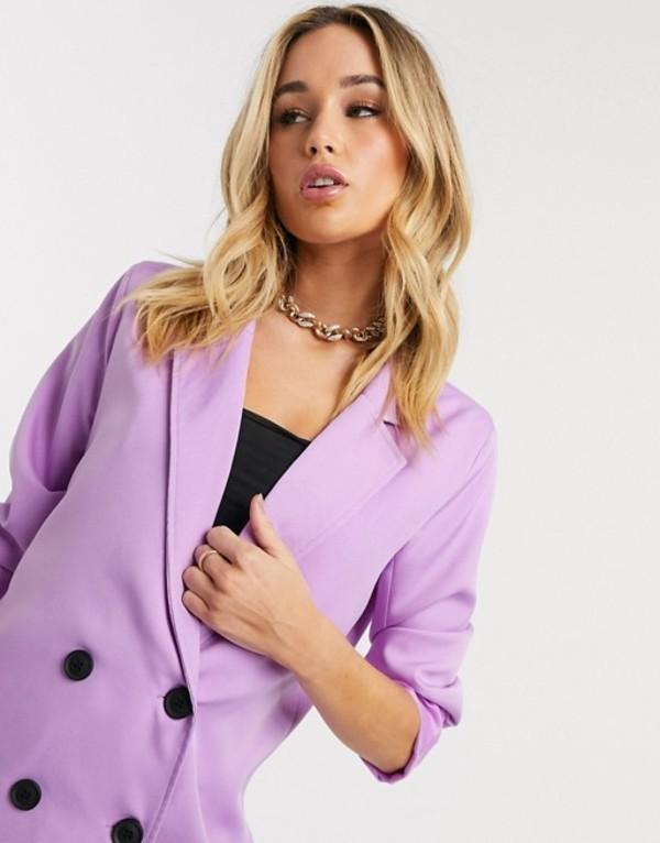パブリックデザイア レディース ジャケット・ブルゾン アウター Public Desire oversized blazer two-piece Lilac