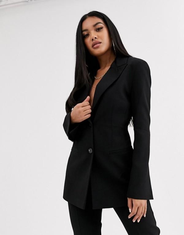 エイソス レディース ジャケット・ブルゾン アウター ASOS DESIGN pop suit blazer in black Black