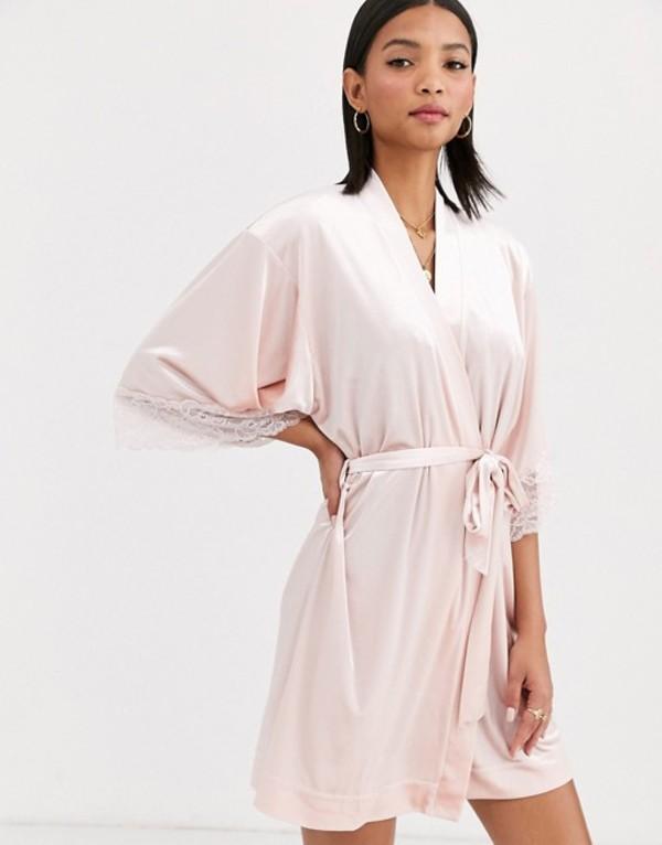 リンデックス レディース コート アウター Lindex Viola velvet robe in pale pink Light pink