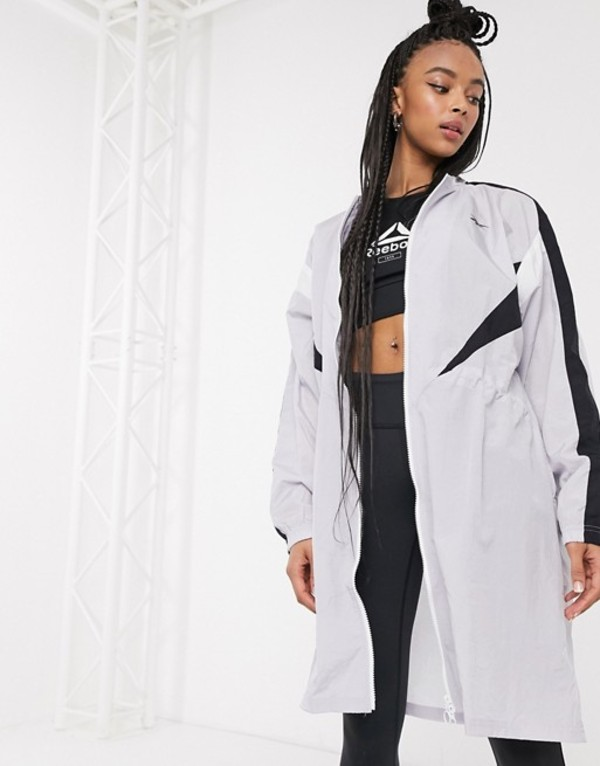 リーボック レディース ジャケット・ブルゾン アウター Reebok Training long woven jacket in gray Gray