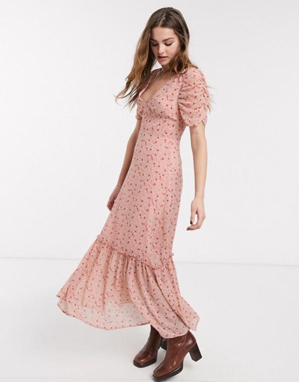 エモリー パーカー レディース ワンピース トップス Emory Park maxi tea dress in vintage floral Pink floral