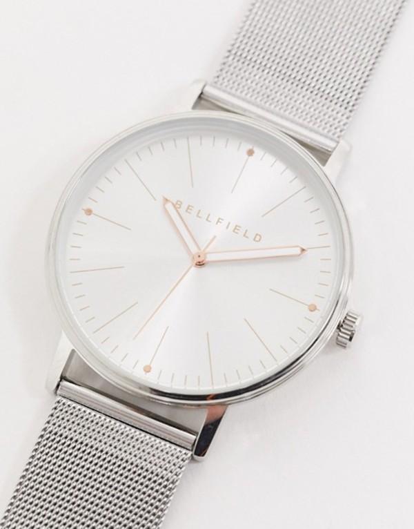 ベルフィールド メンズ 腕時計 アクセサリー Bellfield silver watch with silver dial Silver