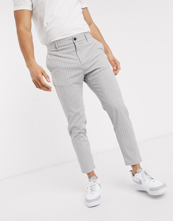 ベルシュカ メンズ カジュアルパンツ ボトムス Bershka skinny corduroy pants in gray Gray