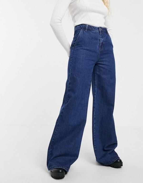 ブレンドシー レディース デニムパンツ ボトムス Blend She Ellis flared jeans Dark blue denim