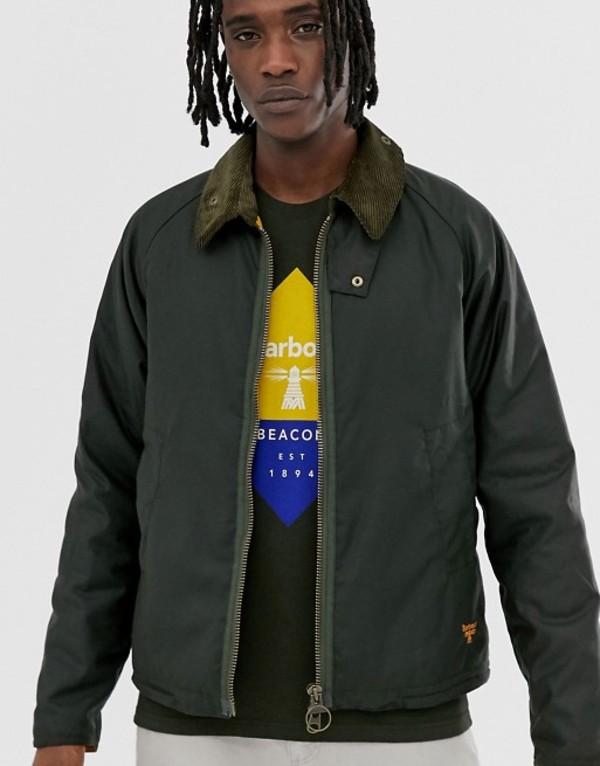 バーブァー メンズ ジャケット・ブルゾン アウター Barbour Beacon Winter Munro wax jacket in sage Green
