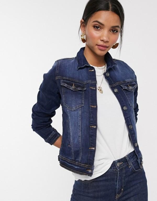 ビーヤング レディース ジャケット・ブルゾン アウター b. Young denim jacket Dark blue