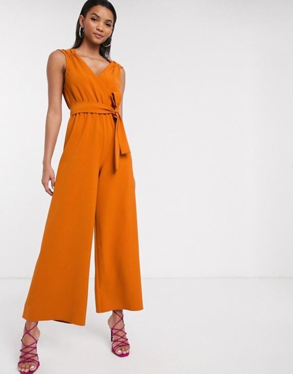 リクオリッシュ レディース ワンピース トップス Liquorish soft tailored jumpsuit in orange Orange
