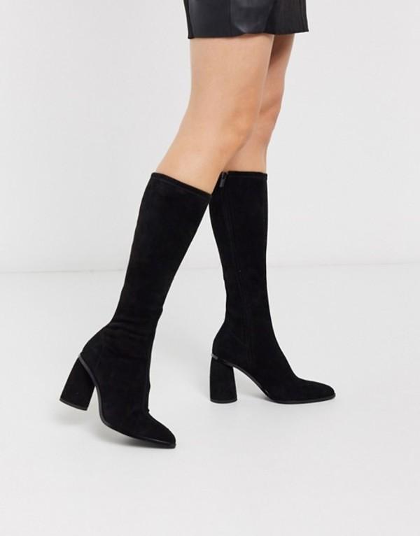 アンドアザーストーリーズ レディース ブーツ・レインブーツ シューズ & Other Stories knee high suede boots in black Black