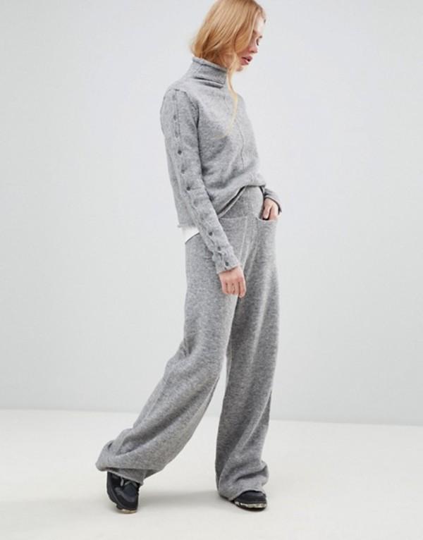 シャエ レディース カジュアルパンツ ボトムス Shae Alpcaca and Merino Wool Blend Lounge Pants Gray heather