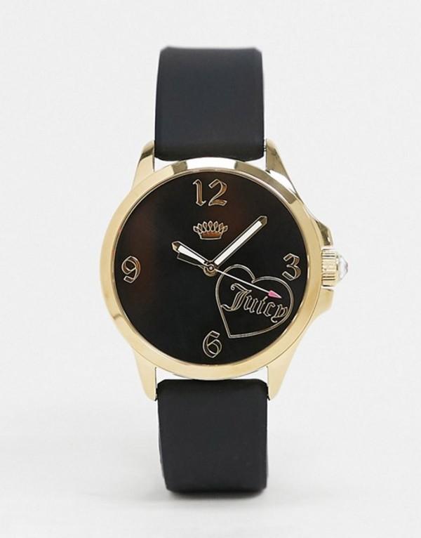 ジューシークチュール レディース 腕時計 アクセサリー Juicy Couture Black Watch with Crown Logo Detail Black