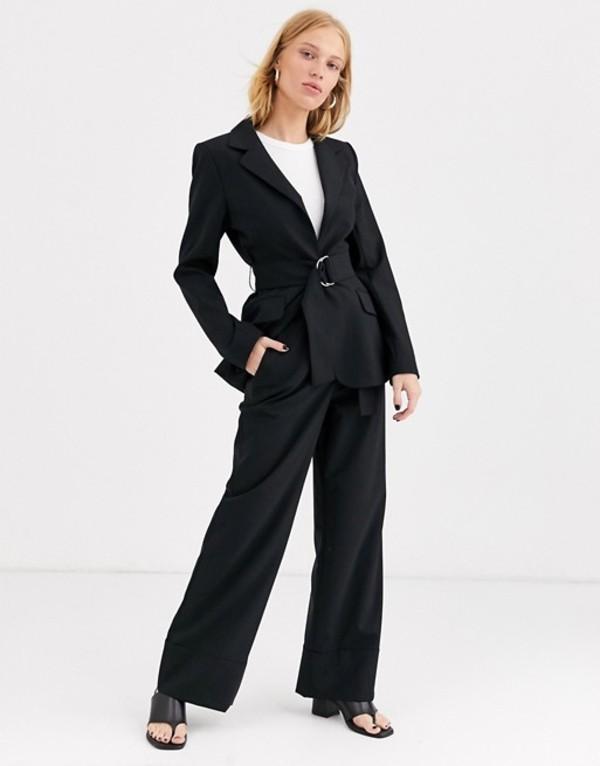 アンドアザーストーリーズ レディース カジュアルパンツ ボトムス & Other Stories wide leg tailored pants in black Black