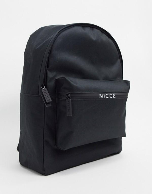 ニッチェ ロンドン メンズ バックパック・リュックサック バッグ Nicce backpack in black Black