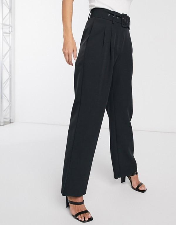 ワイエーエス レディース カジュアルパンツ ボトムス Y.A.S Dinah high waisted belted pants Black