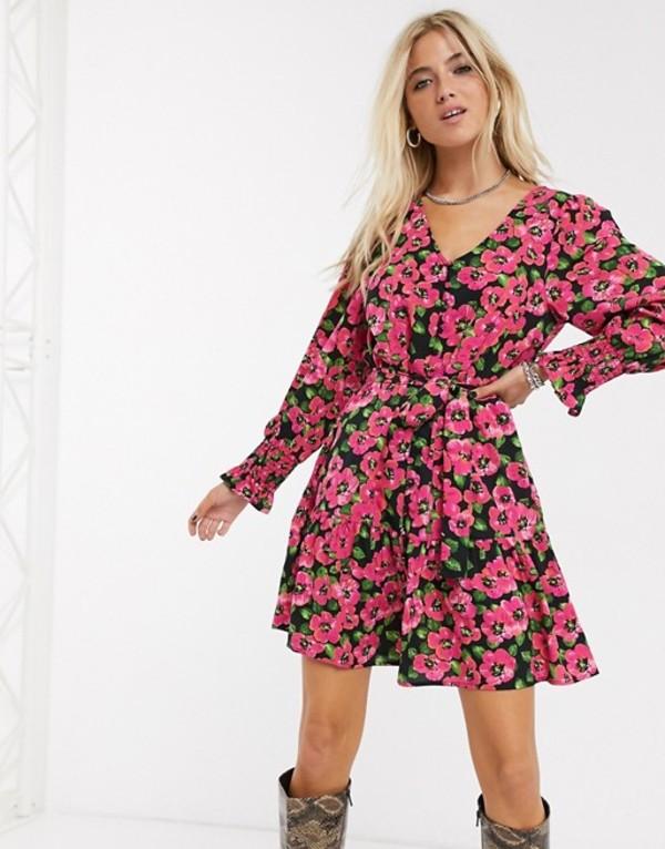 オンリー レディース ワンピース トップス Only mini dress in bold floral print Multi