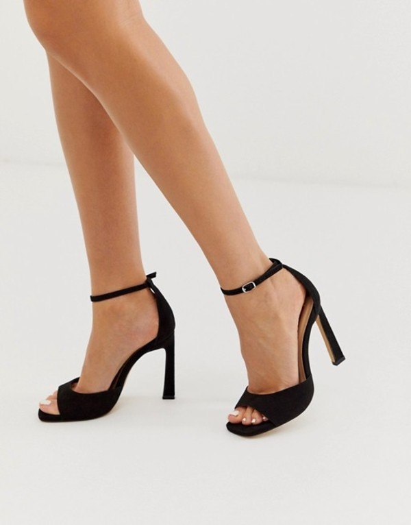 ロンドンレベル レディース サンダル シューズ London Rebel barely there heeled sandals in black Black