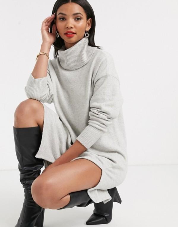 アンドアザーストーリーズ レディース ワンピース トップス & Other Stories rollneck sweater dress in gray melange Gray