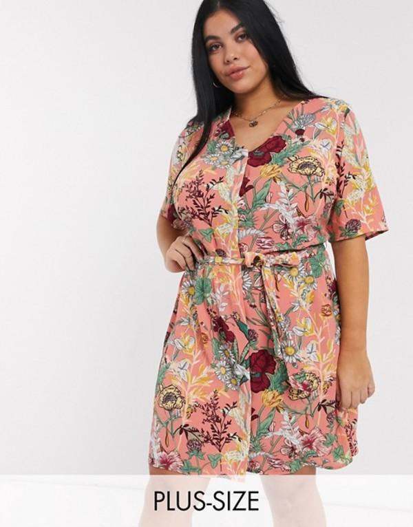 ジュナローズ レディース ワンピース トップス Junarose waist tie dress in floral Flower print